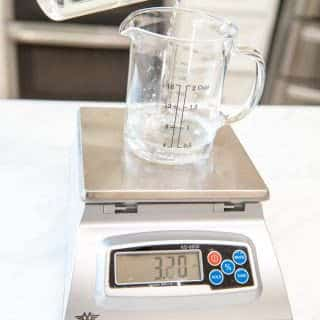 Measure out your ingredients into the container