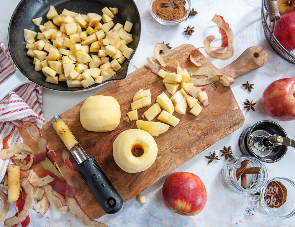 how to cut apples