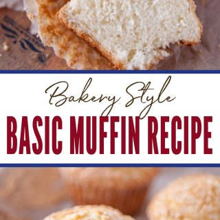 pinterest image for basic muffin recipe