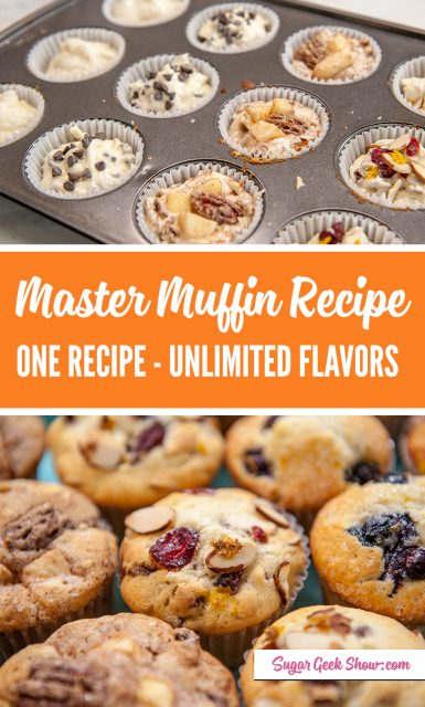 pinterest image for basic muffin recipe