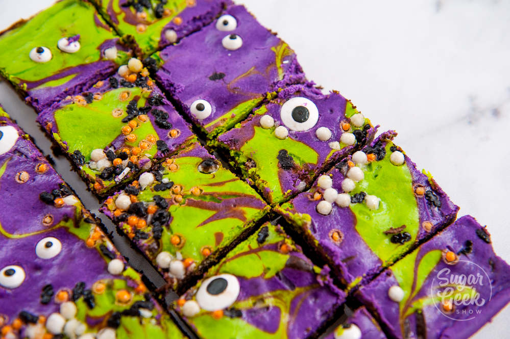 monster mash cheesecake brownies