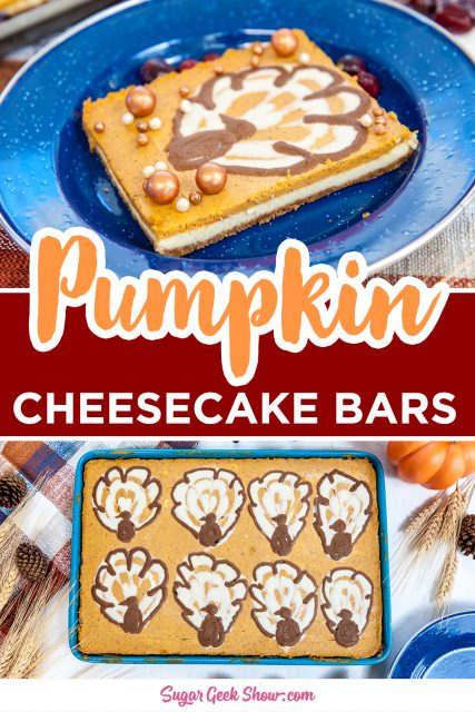 pumpkin cheesecake bar pinterest image
