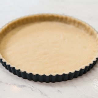 tart dough in tart pan