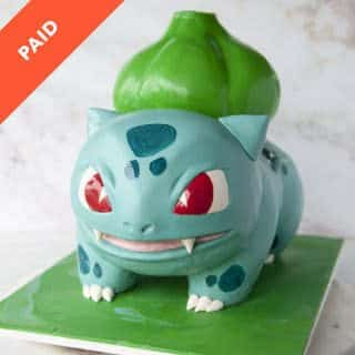 Bulbasaur Cake Tutorial