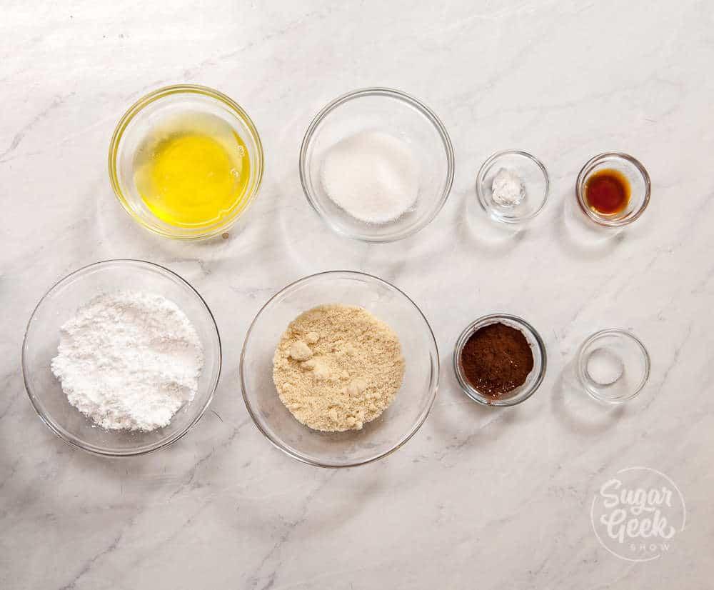 Chocolate Macaron Ingredients