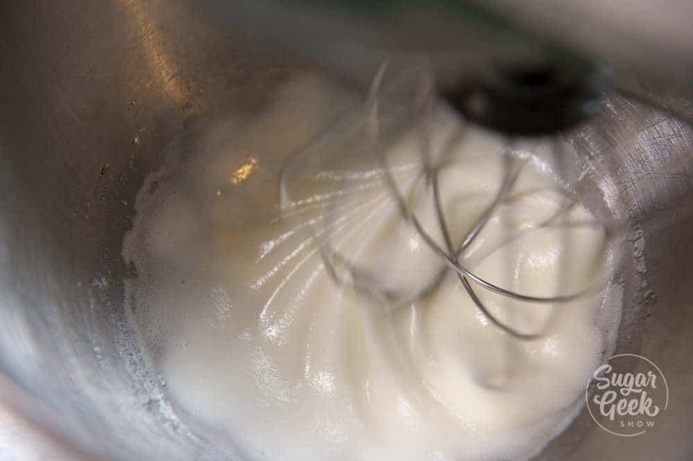 Whipping egg whites