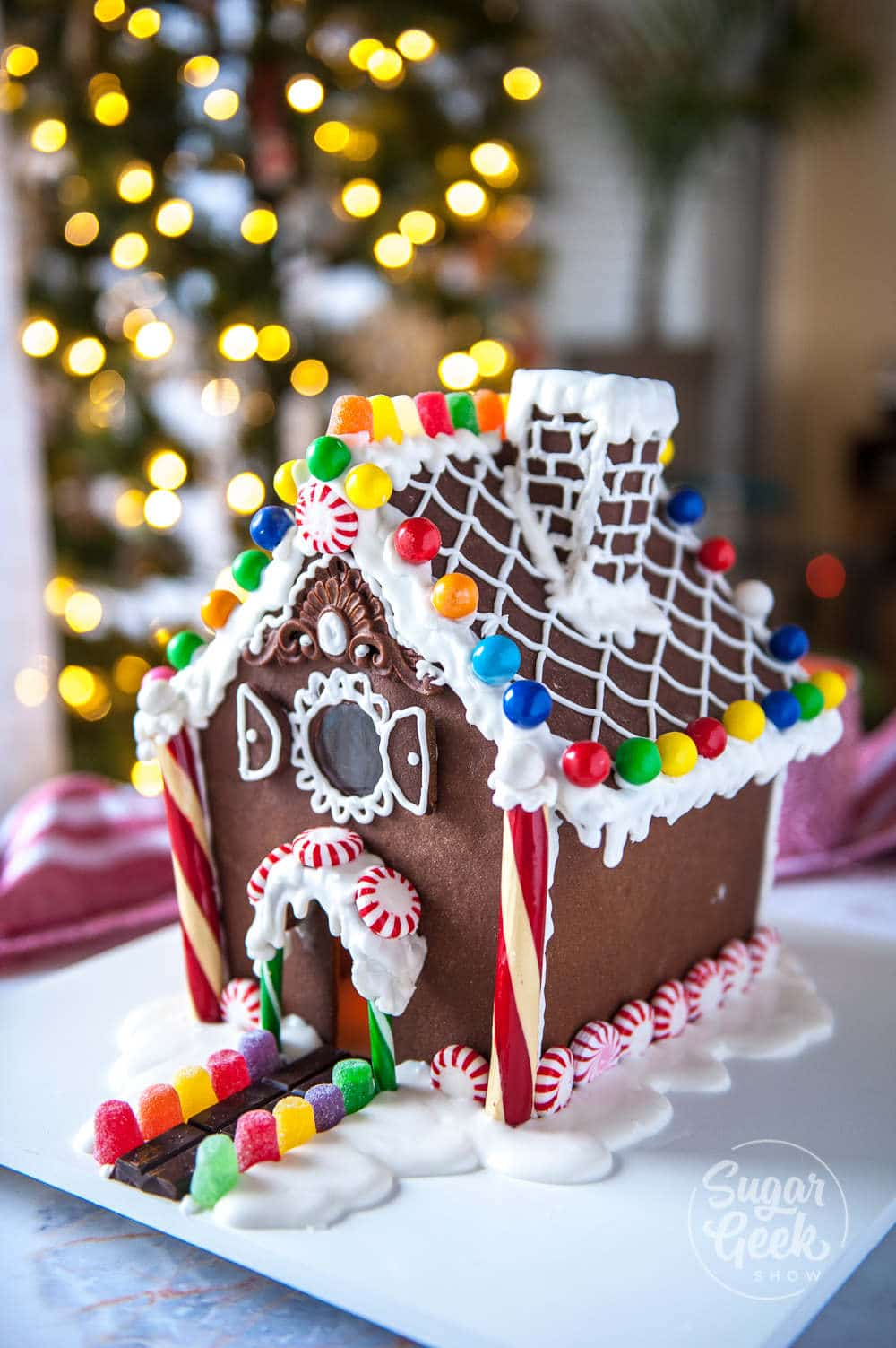 gingerbread house with curved roof