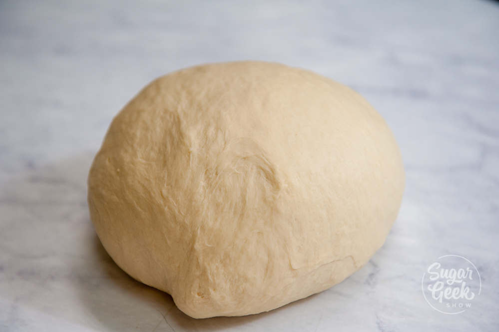smooth dinner roll dough