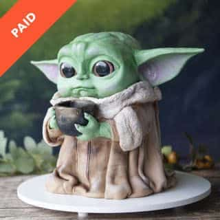Baby Yoda Cake Step-by-Step Online Course