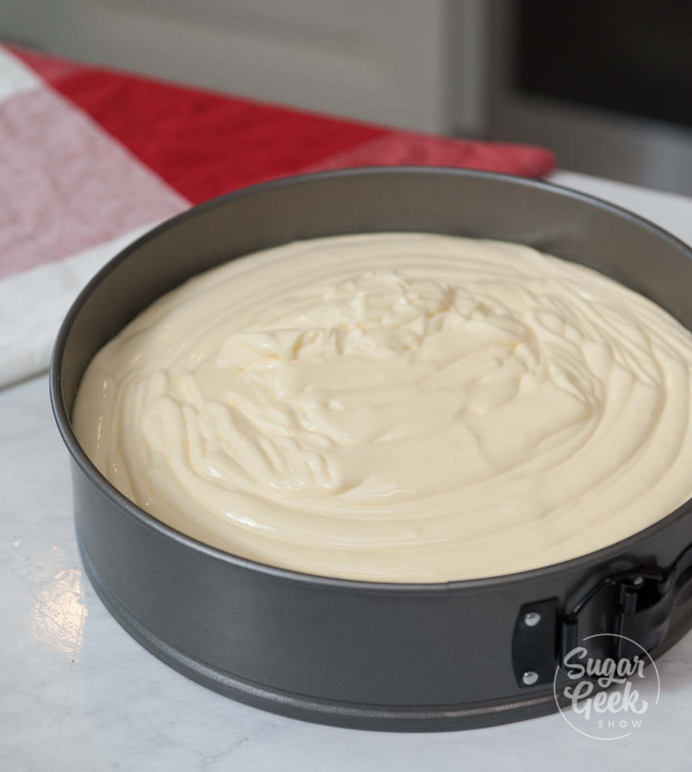 cheesecake in springform pan
