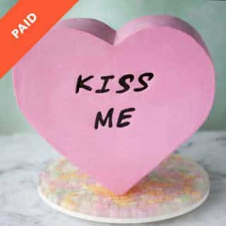 Conversation Heart Cake Tutorial