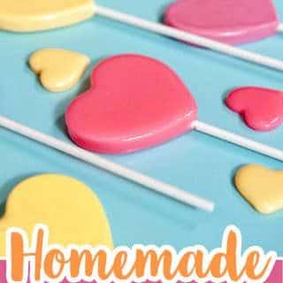 homemade heart lollipops