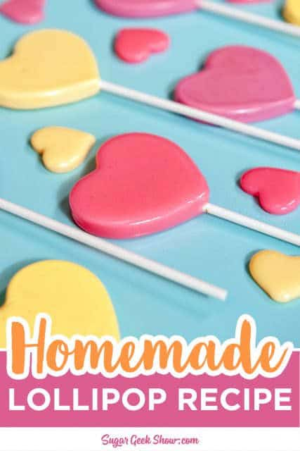homemade heart lollipops