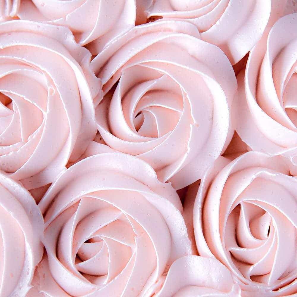 italian meringue buttercream rosettes