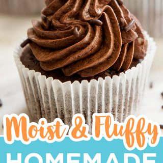 chocolate cupcake pinterest image
