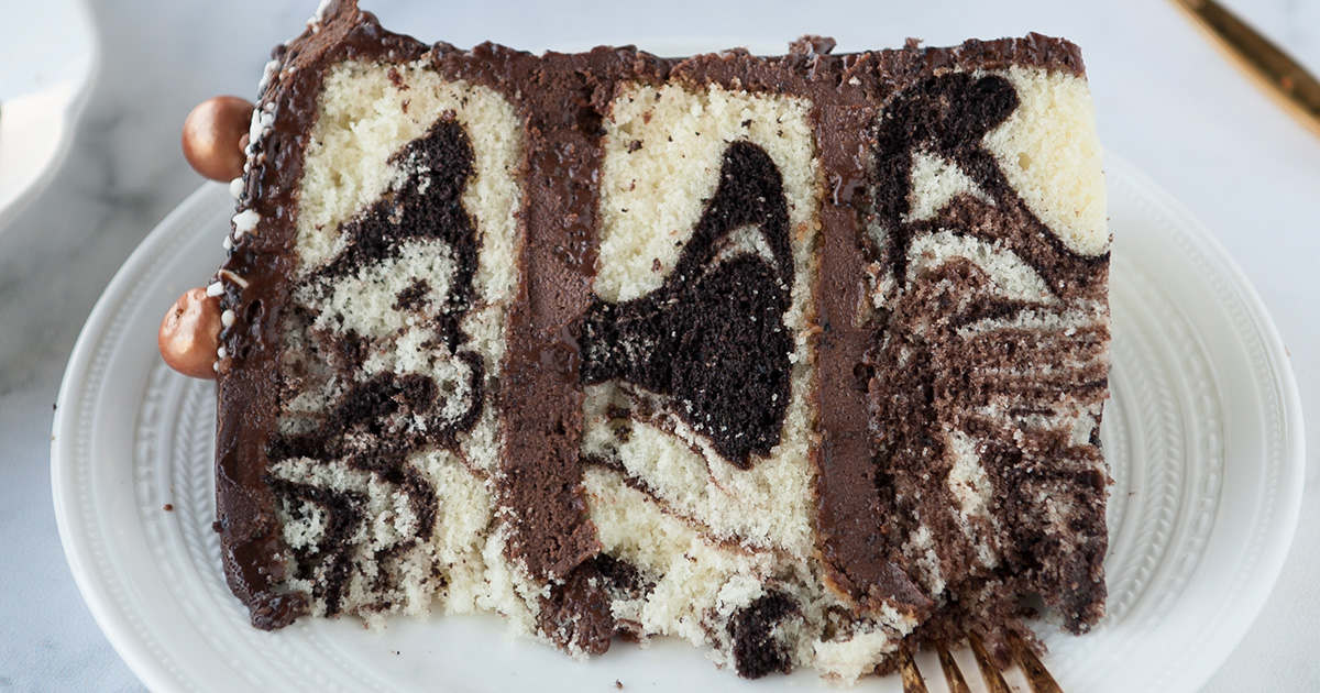 Marble Cake With Whipped Chocolate Ganache Sugar Geek Show