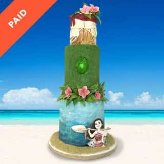 Moana Birthday Cake Step-by-Step Online Course