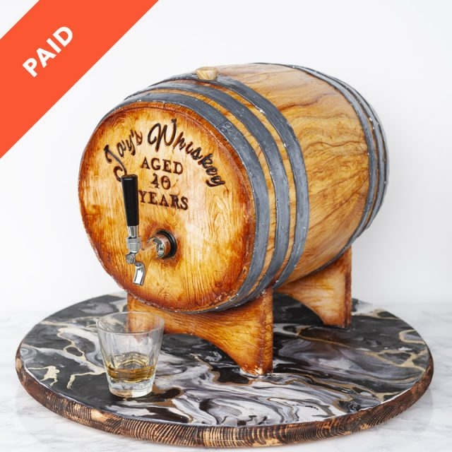 Whiskey barrel cake tutorial