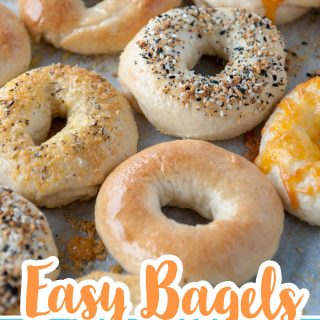 easy bagel recipe pin
