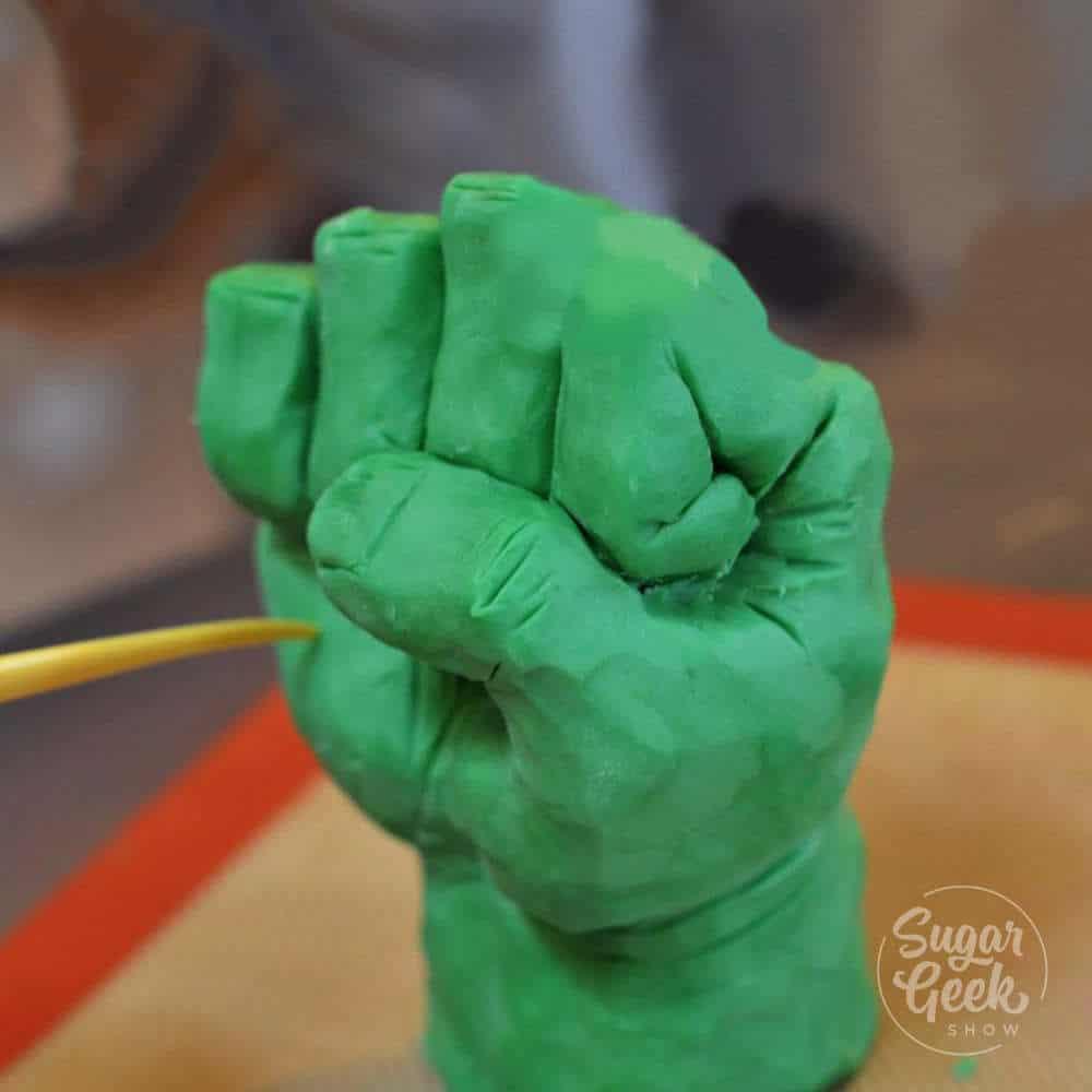modeling chocolate hulk fist tutorial