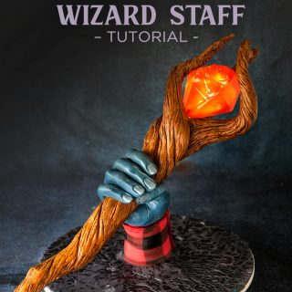 onward wizard staff with glowing gem tutorial