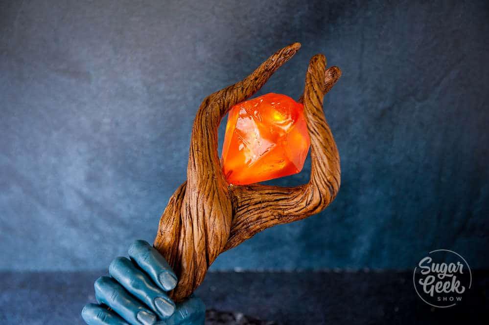 onward wizard staff with glowing isomalt gem
