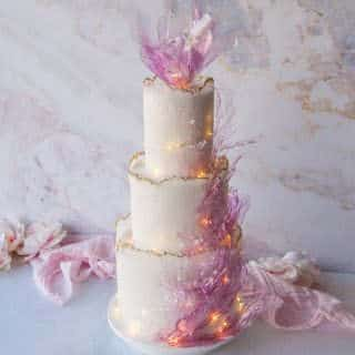 Sugared Sheet Wedding Cake Tutorial