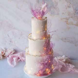Sugared Sheet Wedding Cake Tutorial