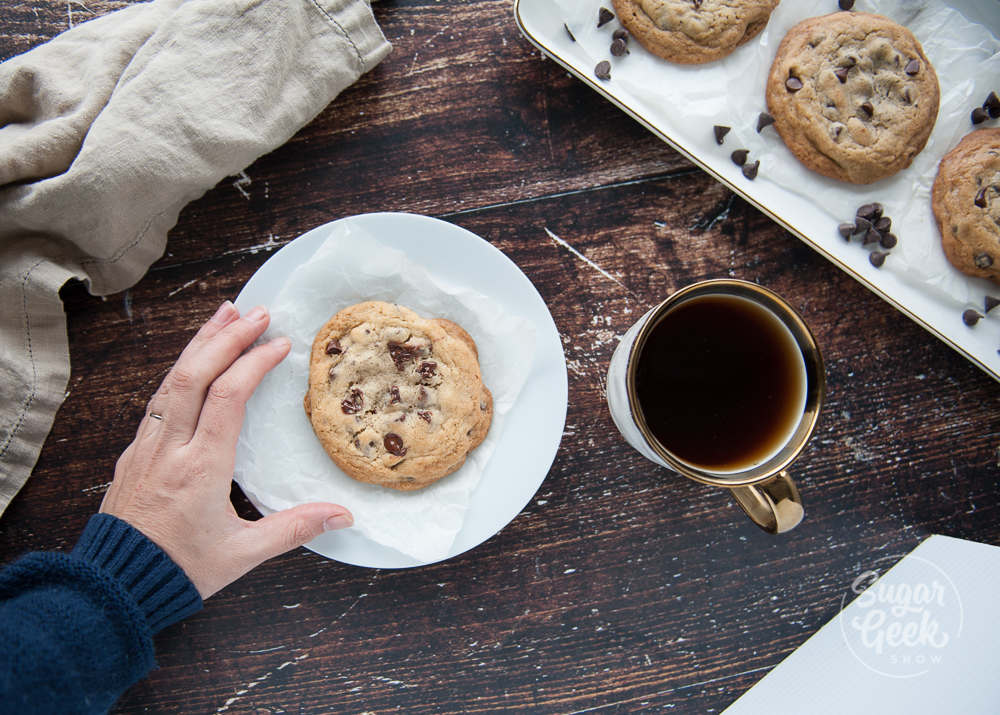 bakery style chocolate chip cookie