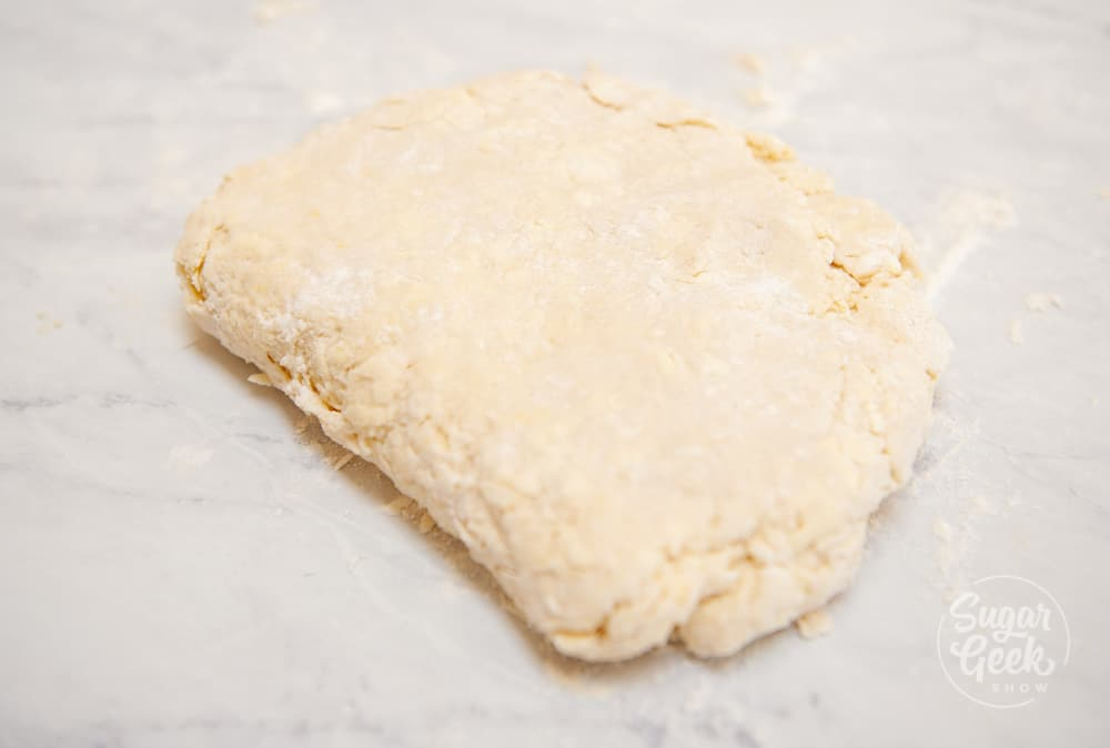 biscuit dough folded in half