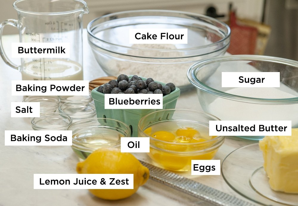 lemon blueberry cake ingredients