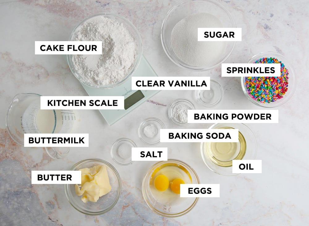 vanilla cupcake ingredients