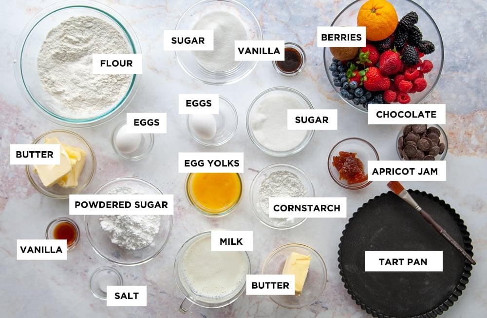 fruit tart ingredients