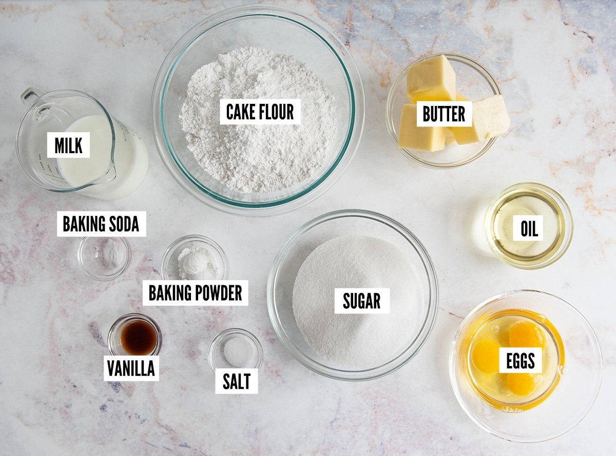 vanilla cake ingredients