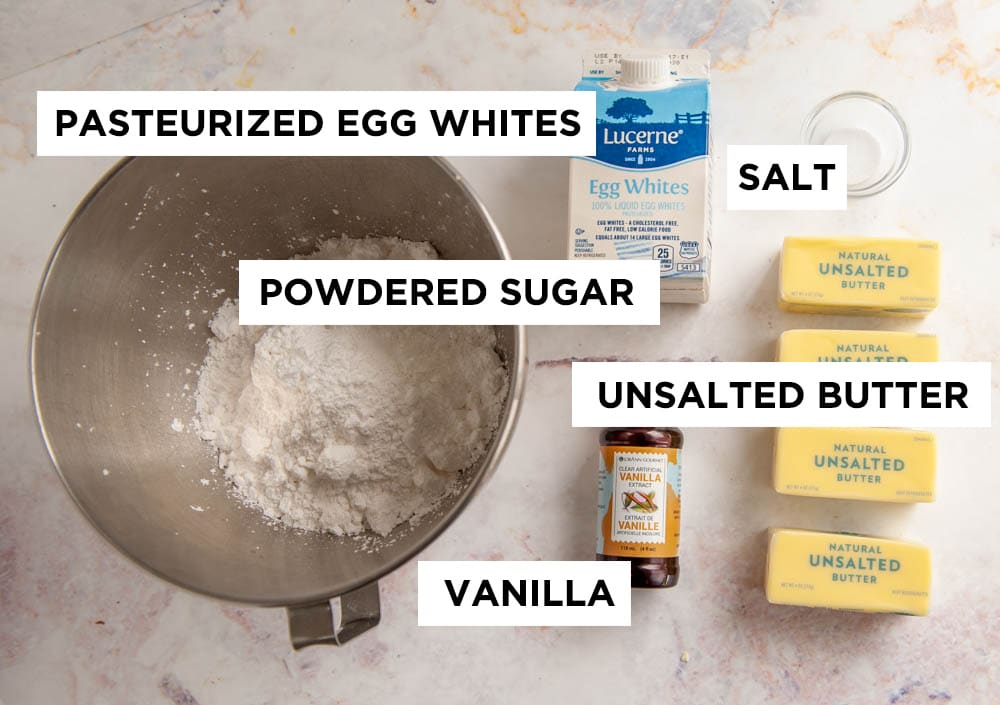 easy buttercream ingredients