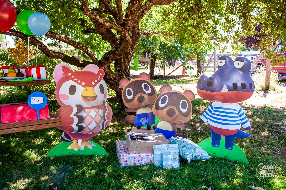 animal crossing cardboard cutout characters