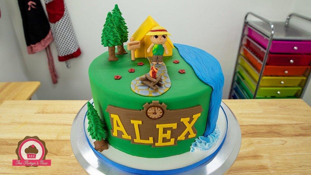 close up of animal crossing cake