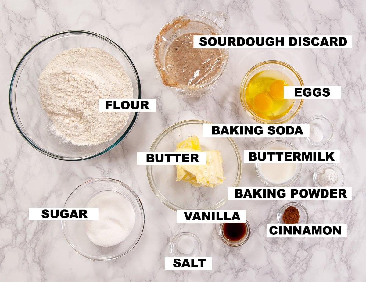 sourdough donut ingredients