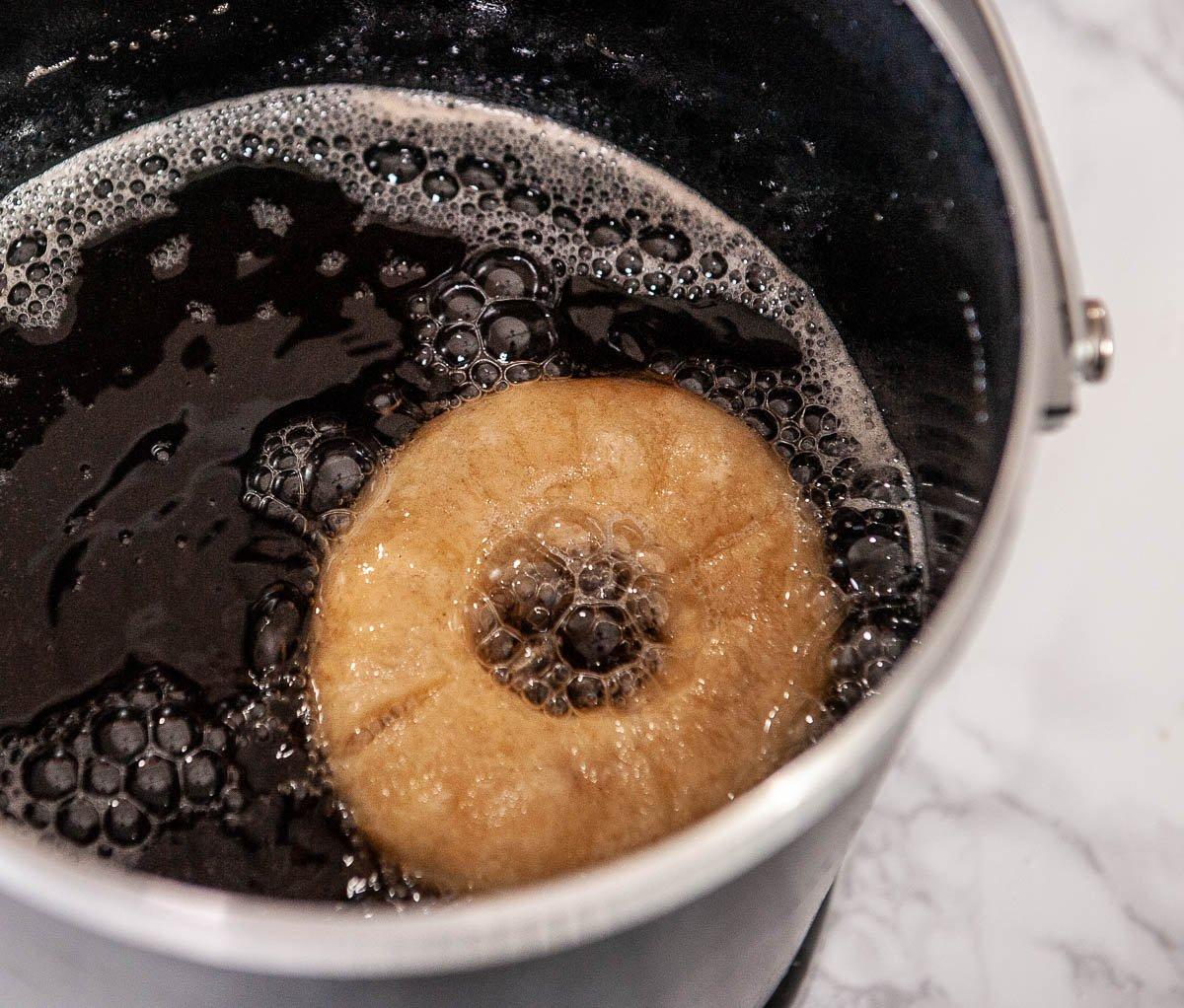 donut frying in a frydaddy