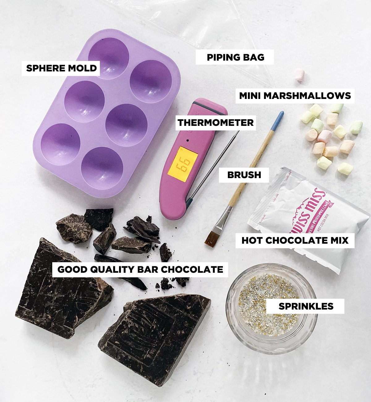 hot chocolate bomb ingredients