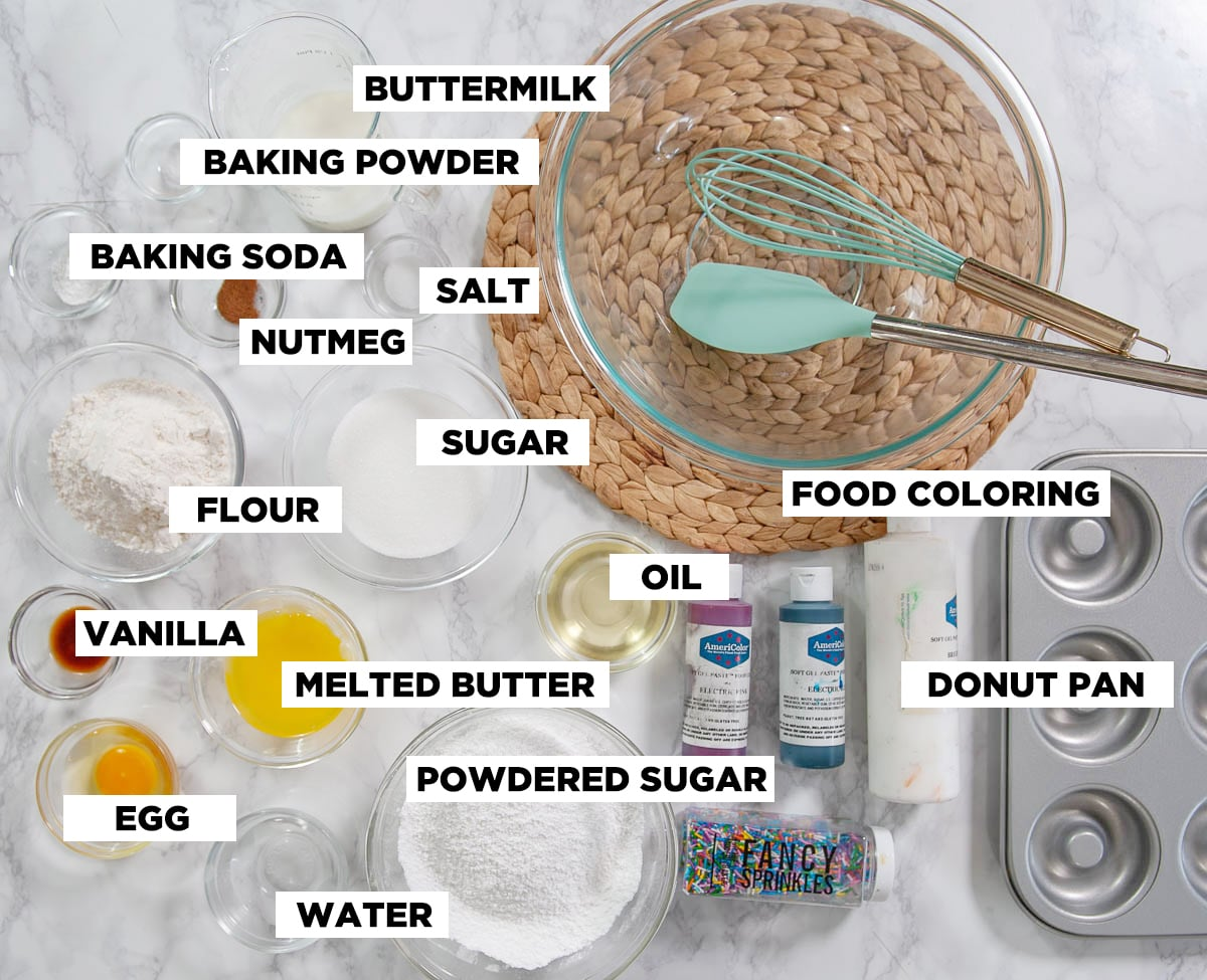 baked donut recipe ingredients