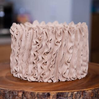 close up of smash cake