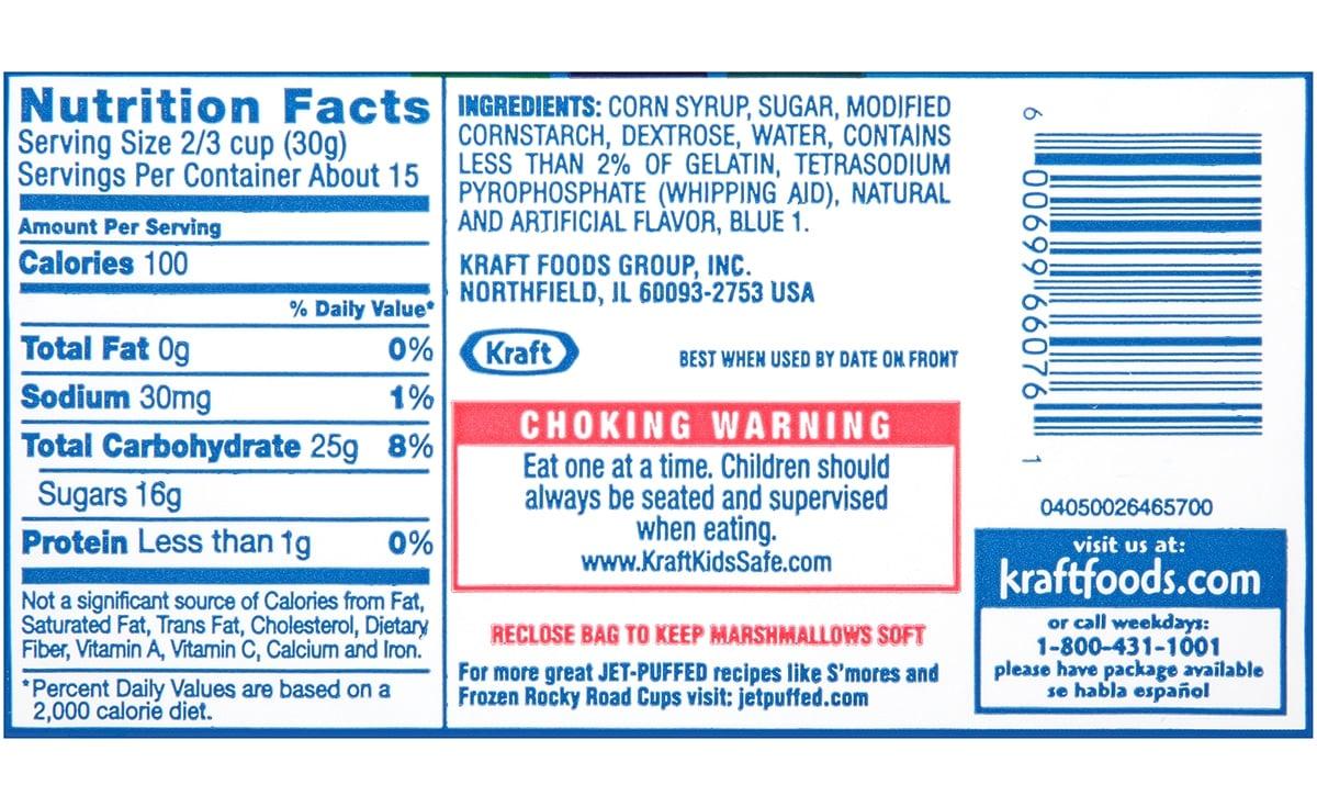 jet puff marshmallows ingredients label