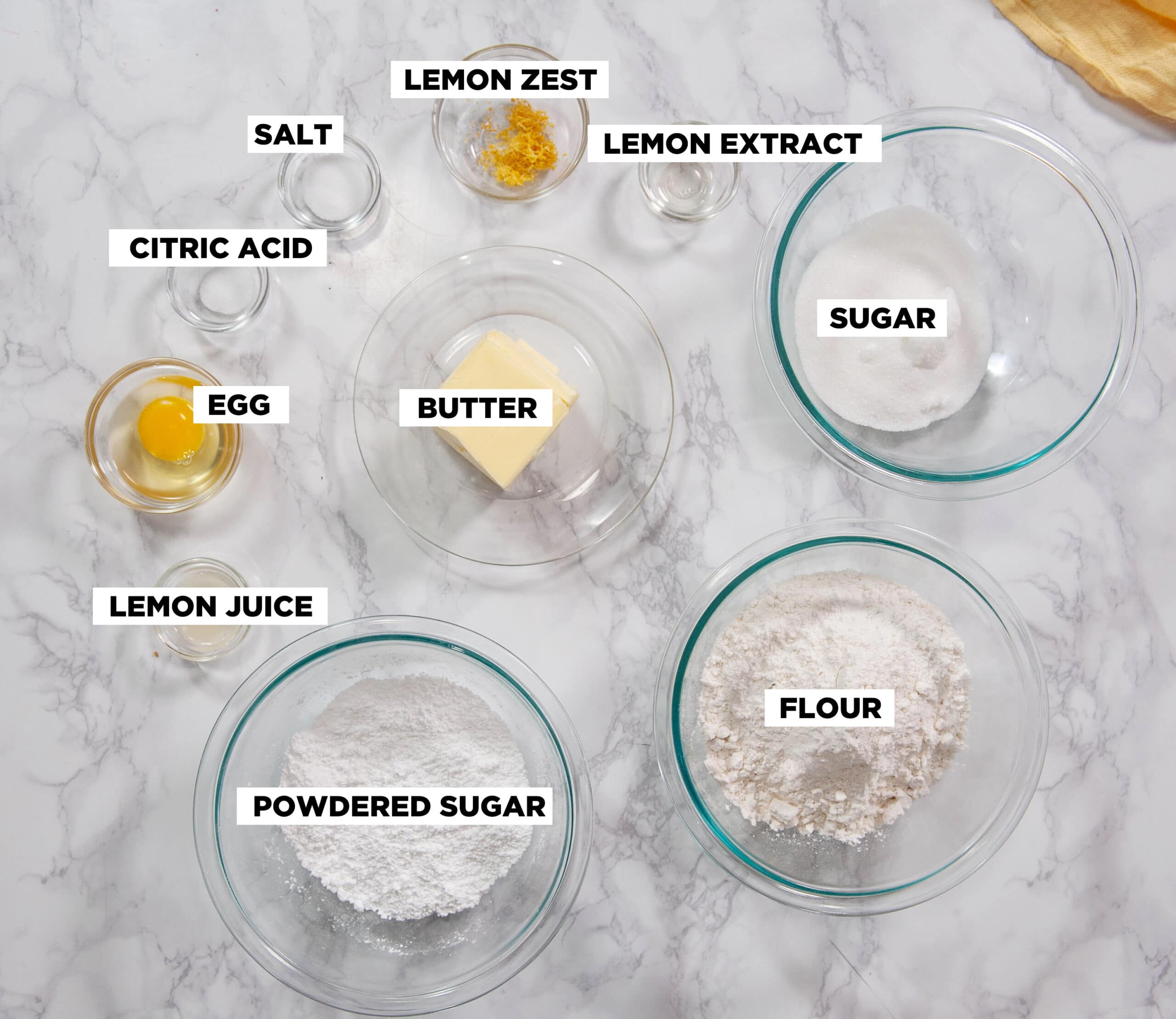 lemon shortbread ingredients