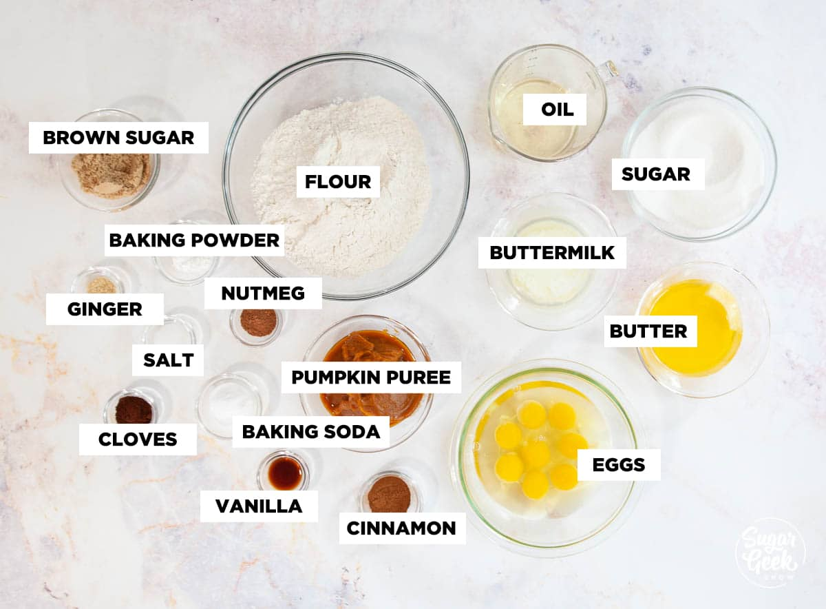 pumpkin spice cake ingredients