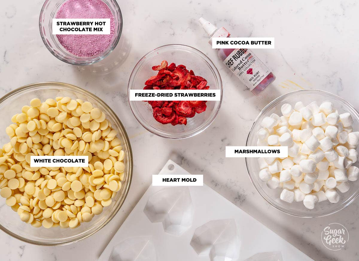 heart hot chocolate bomb ingredients