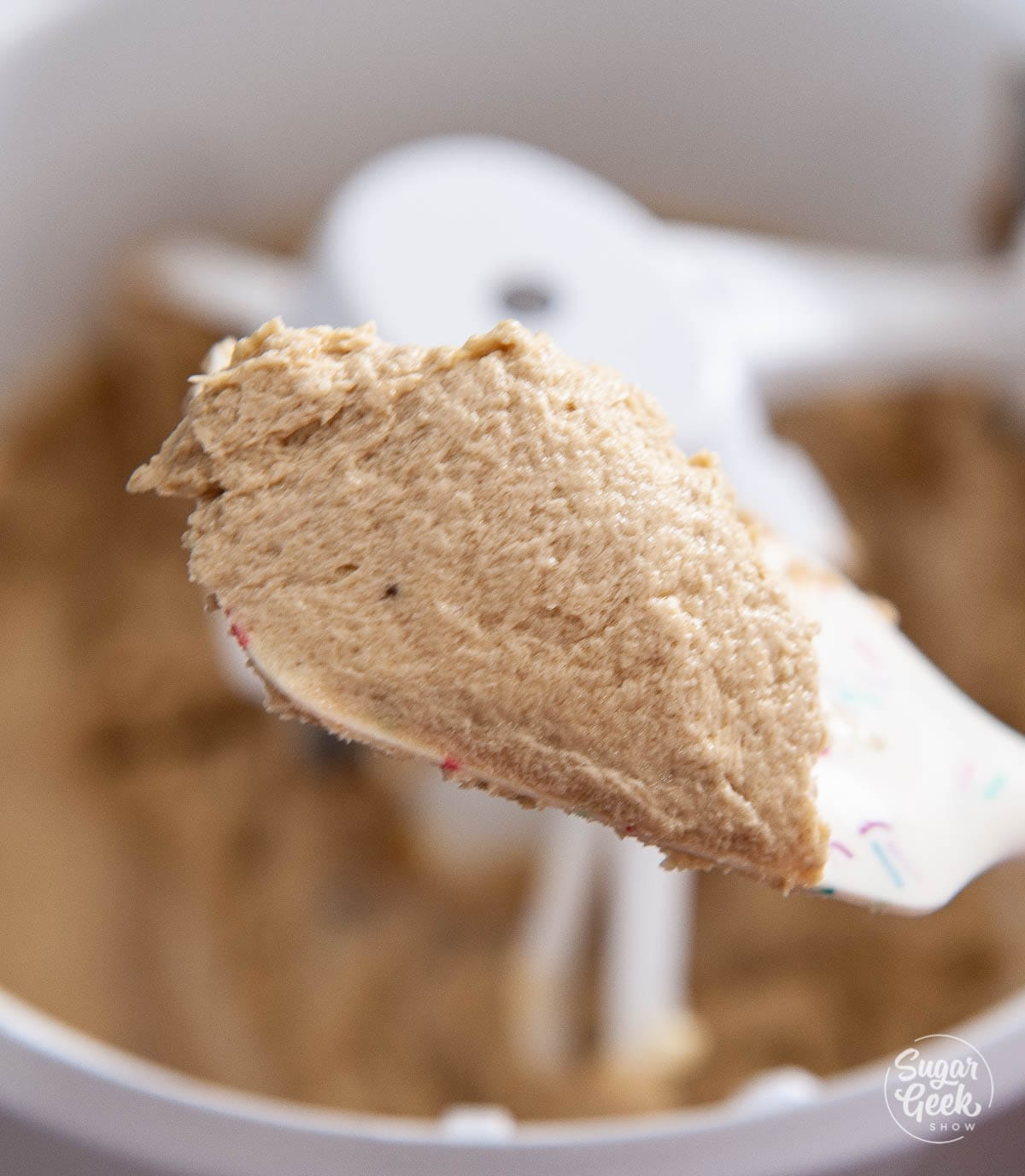 butter and brown sugar creamed together
