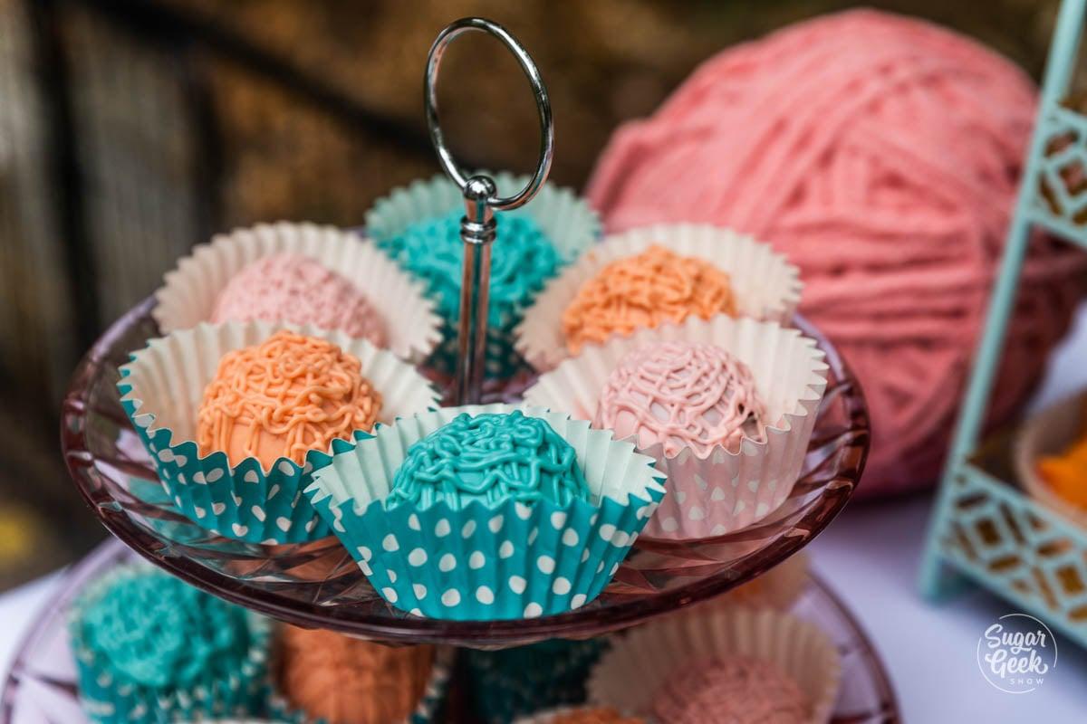 yarn ball cake balls