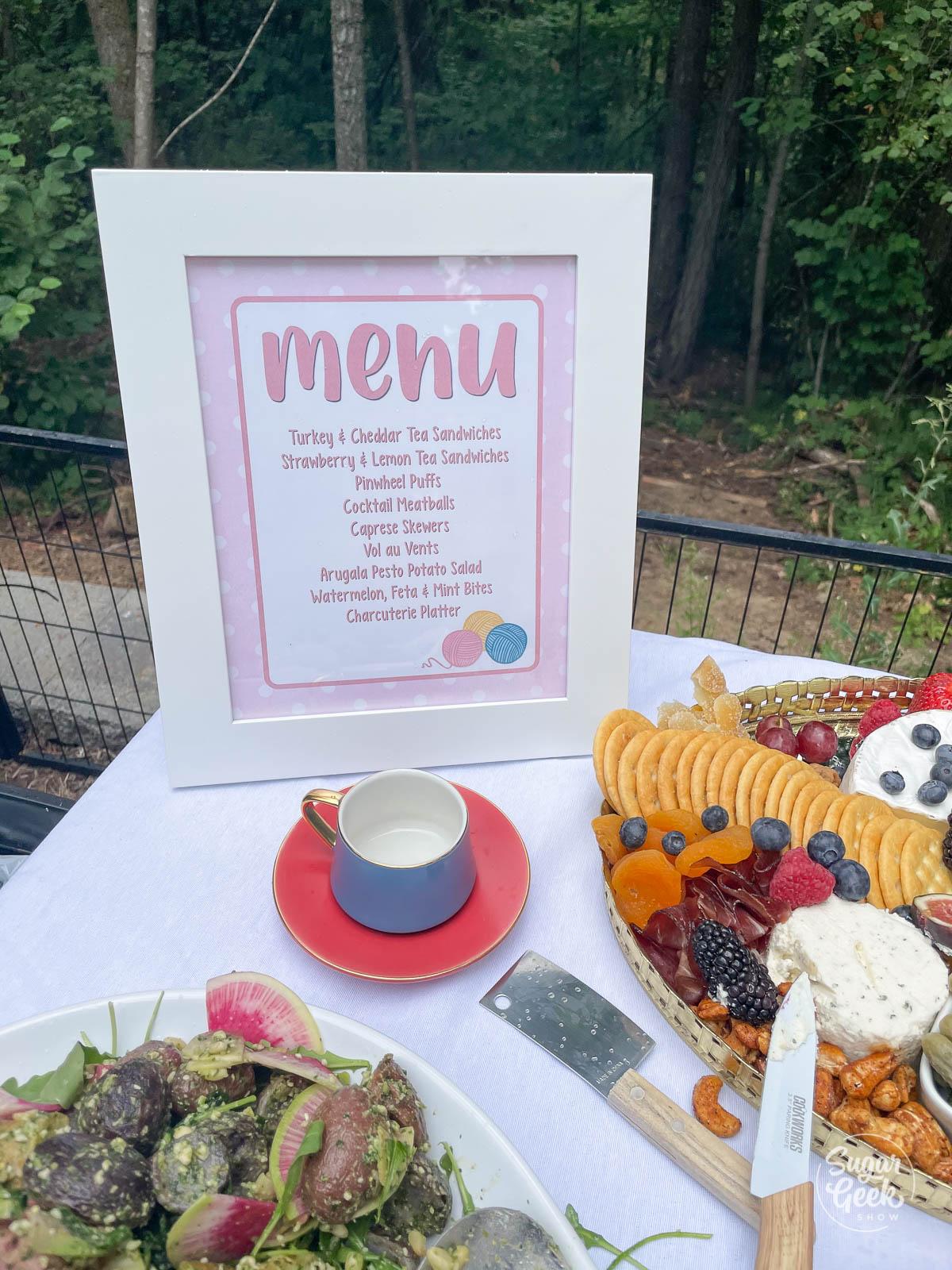 food menu printable