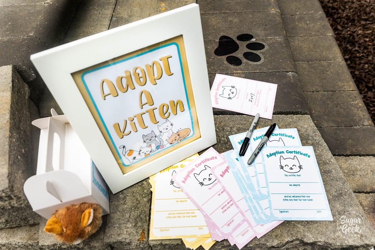 adopt a kitten printable